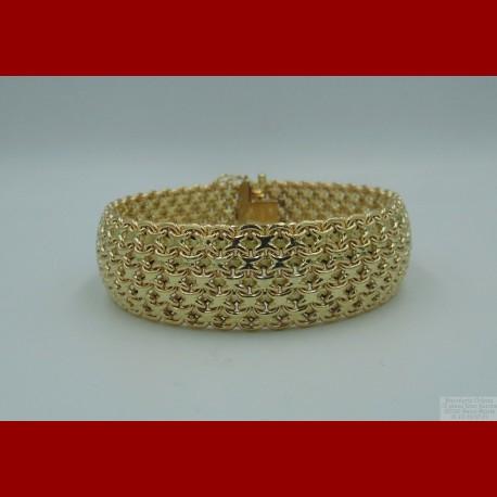 Bracelet Maille Paillasson Or 18 Carats
