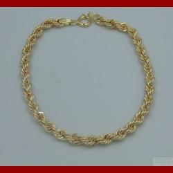 Bracelet Maille Corde Or 18 Carats