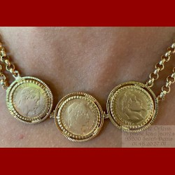 Collier Napoléon triple 10 francs