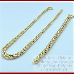 Collier et Bracelet palmier Or 18 Carats