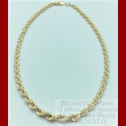 Collier Chute Corde Or 18 Carats