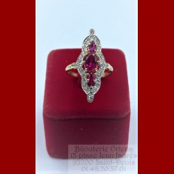 Bague Marquise Rouge Or 18 Carats
