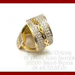 Créole ZIG-ZAG Or 18 carats