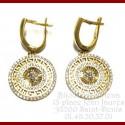 Boucles D'oreilles pendantes Lion Or 18 Carats
