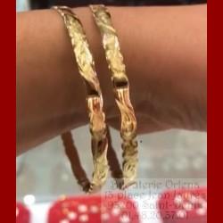 bracelet ciselé or 18 cts 13.2 gr à l'unité