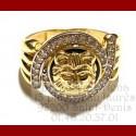 Bague Onyx Lion Or 18 Carats