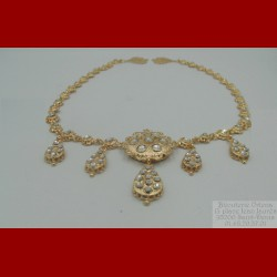 Collier Zerouf Khite Elrouhe Or 18 Carats