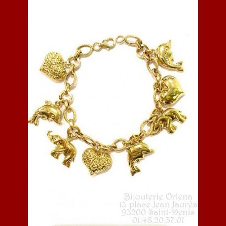 Bracelet Breloques Or 18 Carats