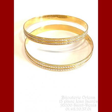 Bracelet ciselée 2 ors (Cheynaze)